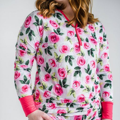 Little Sleepies Roses Pajama Top for Women
