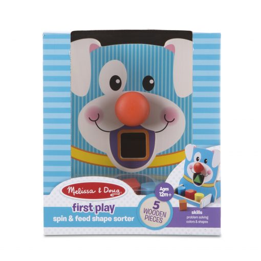 spin and play puppy shape organizer packaging