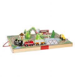 Melissa & Doug Take-Along Railroad Train Case Set