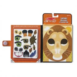 Melissa & Doug Make-a-Face Safari Reusable Sticker Pad