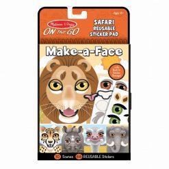 Melissa & Doug Make-a-Face Safari Reusable Sticker Pad Packaging