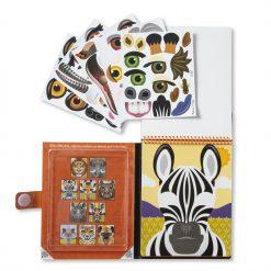 Zebra make a face sticker pad
