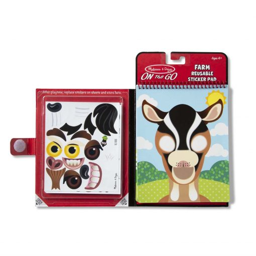 Farm Face reusable sticker pad