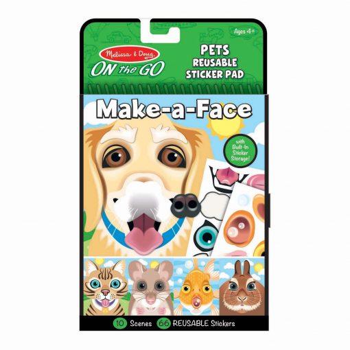 Reusable pets sticker pad
