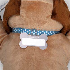 Melissa & Doug Cuddle Dog Jumbo Stuffed Animal Name tag
