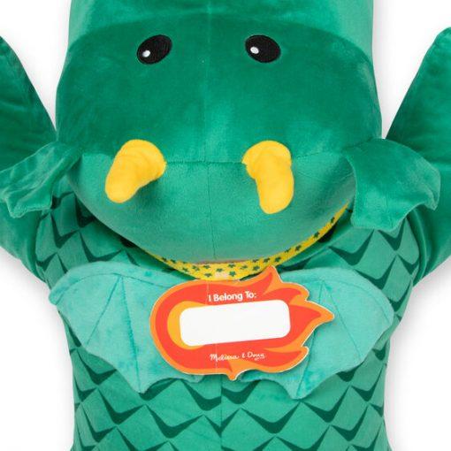 Jumbo Dragon Stuffed Animal Name tag