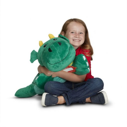 Large stuffed animal dragon