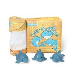 Melissa & Doug Baby Dolphins Float Alongs with Bath Book and Toys