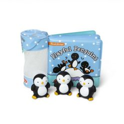 Melissa & Doug Playful Penguins Float Alongs with Bath Book and Toys
