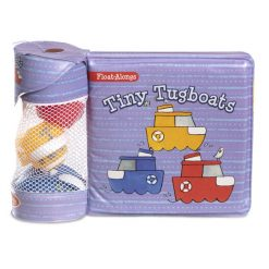 Melissa & Doug Tiny Tugboats Float-Alongs Bath Book and Toys