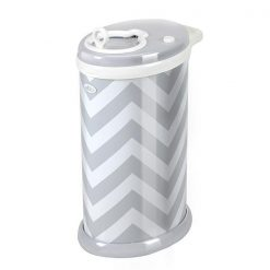 Ubbi Diaper Pail in Grey Chevron Print