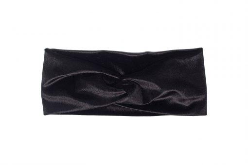 Black Velvet Twist Headband for Baby