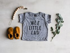 Wee Little Lad Grey T-shirt for Babies and Toddlers