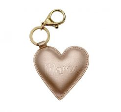 Gold Mama Heart Charm Keychain Itzy Ritzy