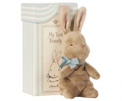 Maileg My First Bunny Gift Set with Baby Bunny and Box in Blue