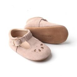 Blush Pink Leather Baby Shoes