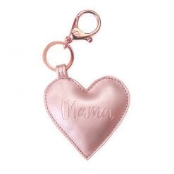 Rose Gold Mama Heart Keychain Itzy Ritzy