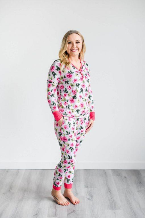 Matching Little Sleepies Mama Roses PJ Pants