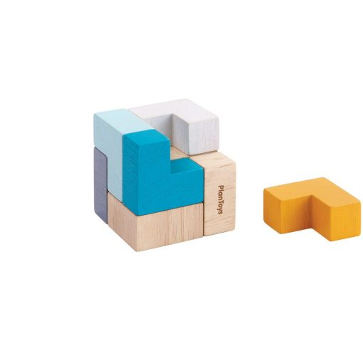 Cube of Wooden Pieces Toy