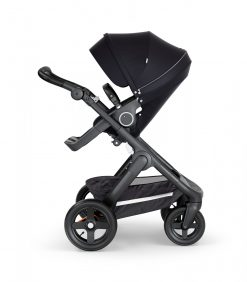 Stokke Trailz Rugged Terrain Stroller in Black with Black Chassis and Black Handle