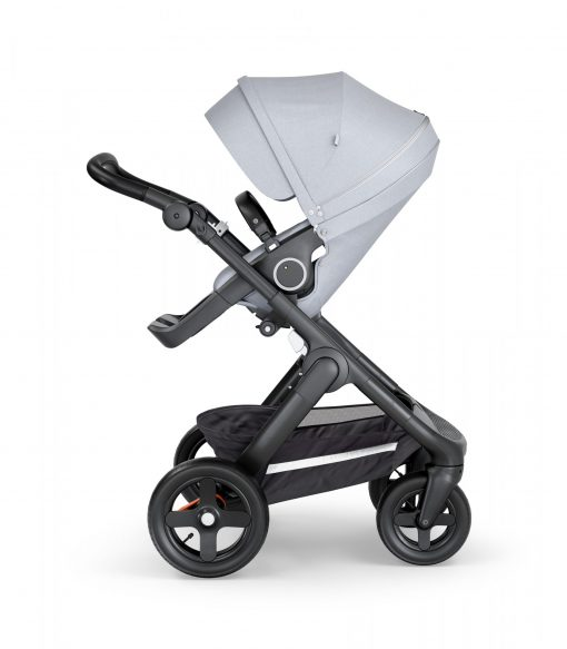 Stokke Trailz Grey Melange Stroller Black Chassis and Black Handle