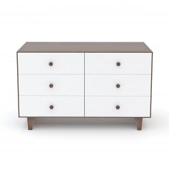 Oeuf Rhea 6 Drawer Dresser - White/Walnut