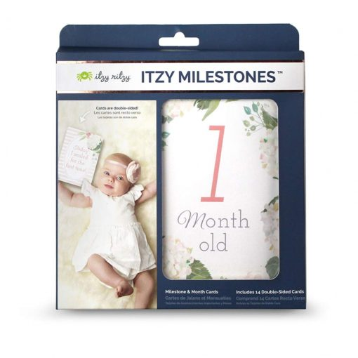Beautiful floral monthly milestone cards for pictures with your growing baby