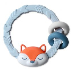 Silicone teether with a fun fox shape from Itzy Ritzy