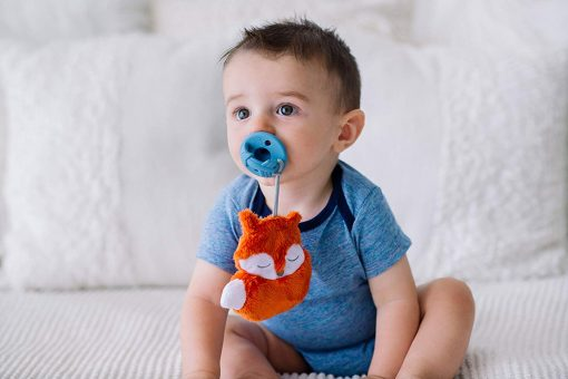 Pacifier with attached animal