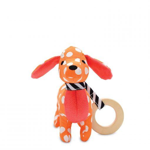 Polka dot puppy rattle
