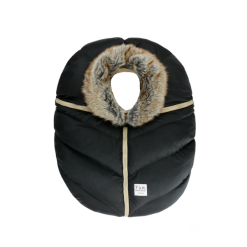 Car Seat Cover with Faux Fur Head Lining