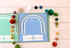 Rainbow Theme Baby Memory Book