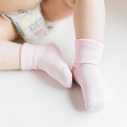 Pink Baby Socks with grips