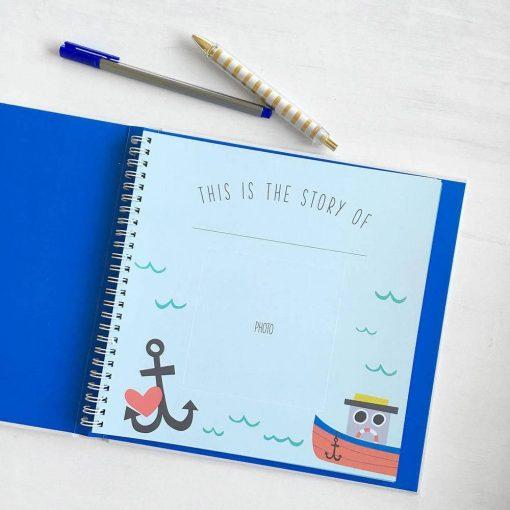 Nautical Theme Baby Book