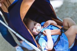 Happy baby in the Mima Zigi lightweight Stroller