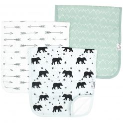 Copper Pearl Archer Burp Cloth Set 3-Pack