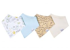 Copper Pearl Aussie Baby Bandana Bib Set 4-pack