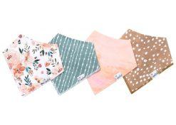 Copper Pearl Autumn Baby Bandana Bib Set 4-pack