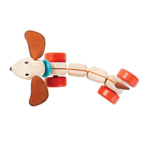 PlanToys Wooden Pull-Along Happy Puppy 2