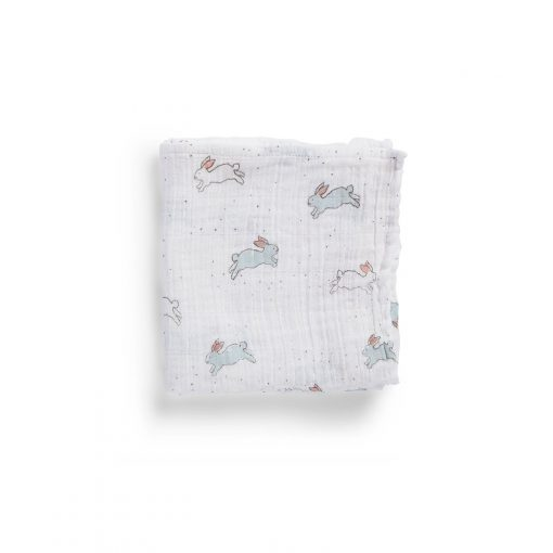 Pehr Organic Cotton Muslin Count-the-Ways Cloth in Tiny Bunny