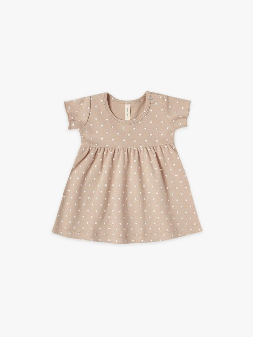 Quincy Mae Short Sleeve Heart Dress in Petal