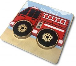Firetruck Police Truck and Drump Truck Chunky Puzzles