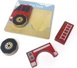 Five Piece Trucks Wooden Puzzle by BeginAgain