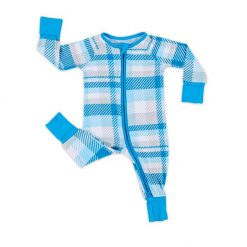Blueberry Plaid Little Sleepies Sleeper sizes Newborn - 3T