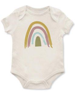 Rainbow Print Baby Onesie