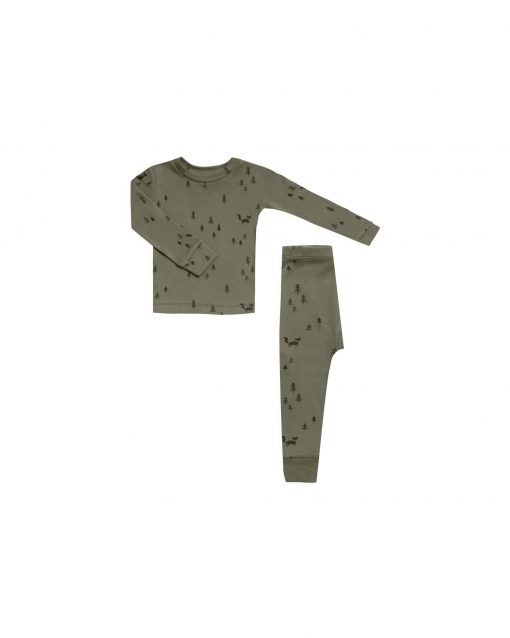 Rylee + Cru Forest Pajama Set for Toddlers and Kids