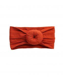 Emerson and Friends Burnt Orange Bun Baby Headband