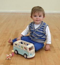 Kid playing with colin's van