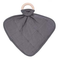 Kyte BABY Charcoal Lovey with Removable Wooden Teething Ring