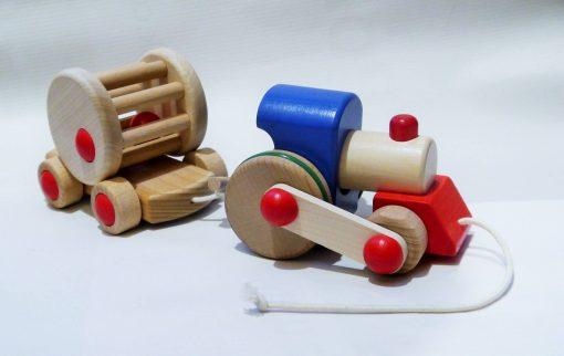 Bajo Choo Choo Wooden Train Pull Toy